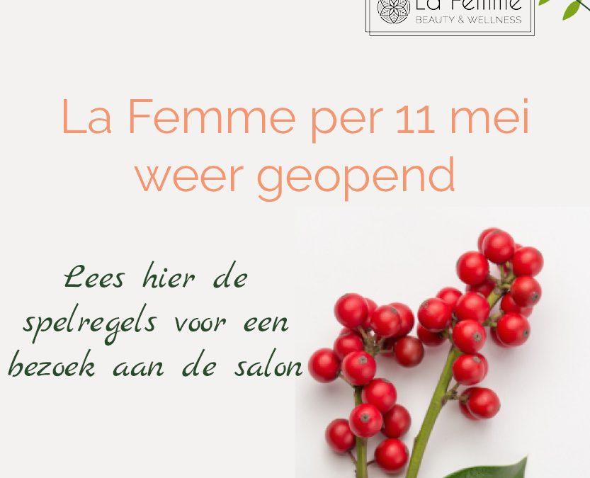Spelregels La Femme voor bezoek aan de salon (COVID19 Hygiëneprotocol)