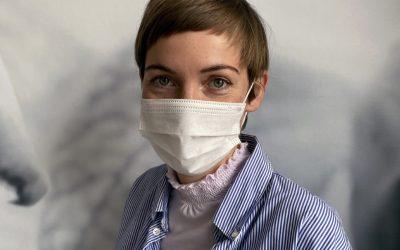 MASKNE, acne door het dragen van mondkapjes